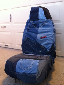 blue jean seat cover